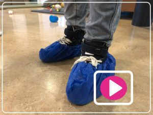 Vlog blauwe sloffen kinderopvang