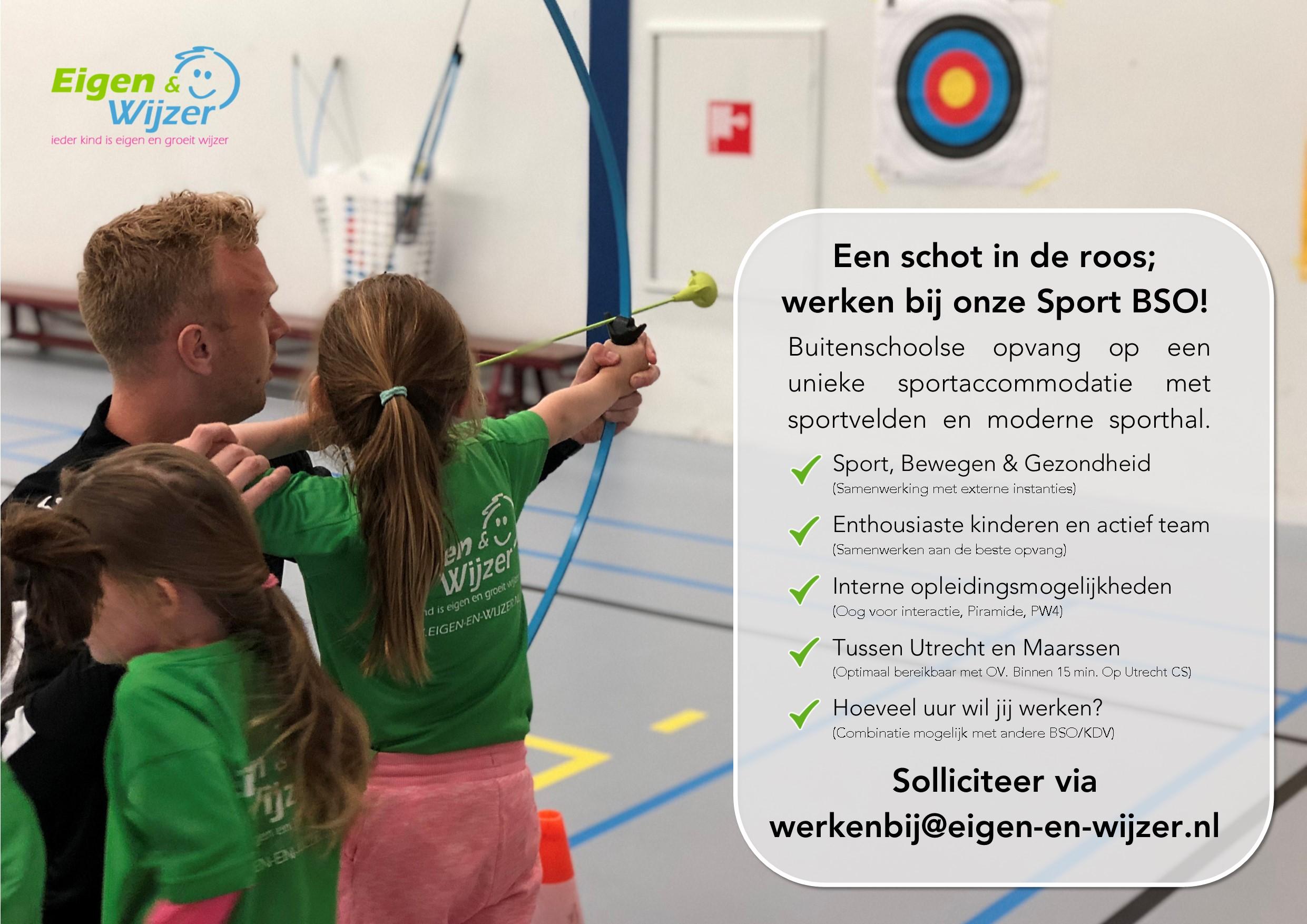 Vacature Sport BSO Maarssen