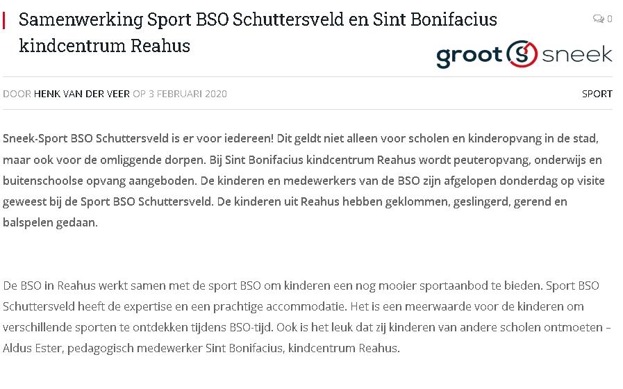 GrootSneek - Sport BSO Schuttersveld - Sneek