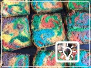 bso activiteit - gekleurde cake